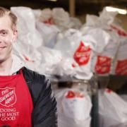 Salvation Army volunteer smiling