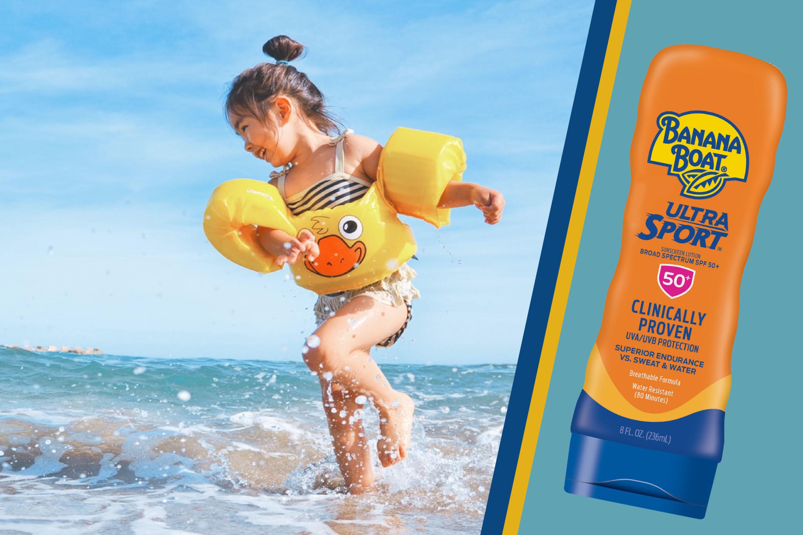 Banana Boat 50 SPF Sunscreen Summer Skin Safety