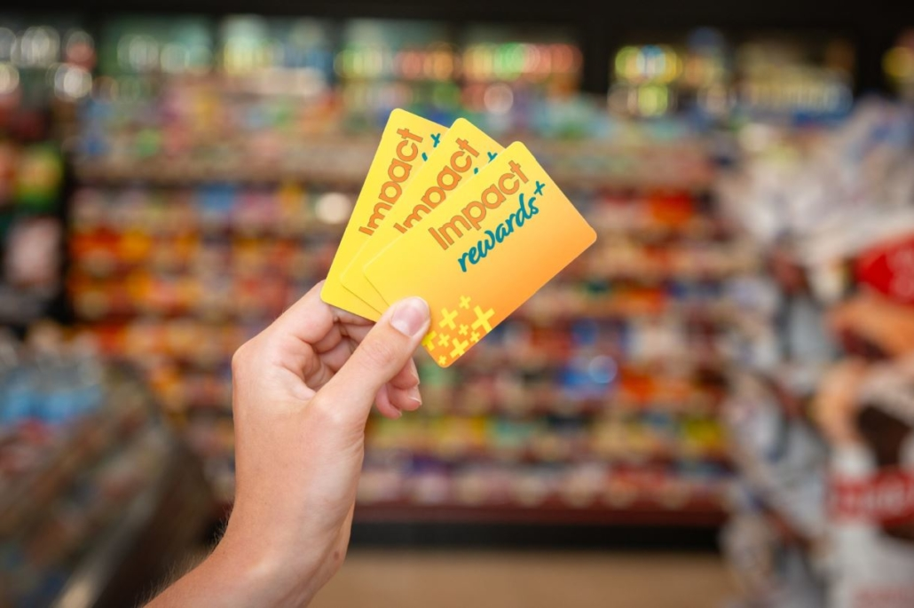 The Store Impact Rewards+ Loyalty Program Cards