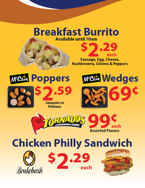 The Store Convenience Store September Hot Food Specials